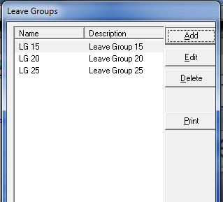 Leave Groups
